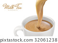 milk tea elements 32061238