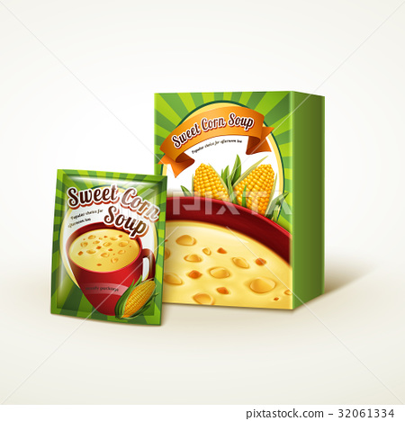 corn soup package design 32061334