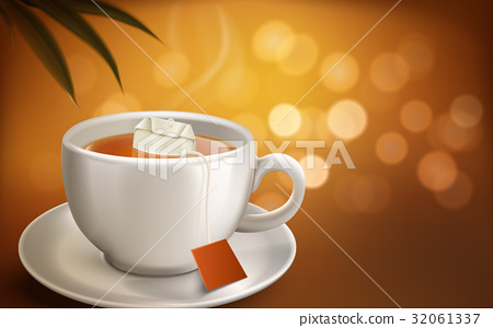 hot tea illustration 32061337