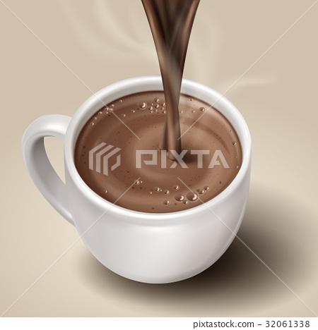 hot chocolate illustration 32061338