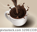 hot chocolate special effect 32061339