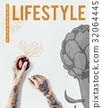 Lifestyle Wellbeing Healthy Choice Flower Beetroot Food 32064445