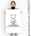 Hourglass Sandglass Timer Icon Word 32066307