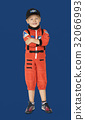 Little boy with astronaut dream job smiling 32066993