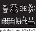 science icon set 32074520