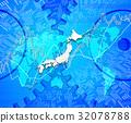 세계지도와 일본지도와 주식 투자 32078788