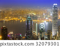 Hongkong skyline from victoria peak 32079301