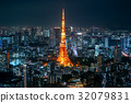 view of tokyo tower at night japan 32079831
