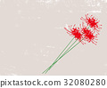 Higanki花水彩圖片 32080280