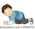 Kid Boy Crawl All Fours 32080502