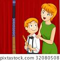 Kid Boy Mom Flute Back Stage 32080508