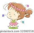 Kid Girl Ballerina Floral Butterflies 32080558