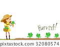 Kid Girl Harvest Carrots 32080574