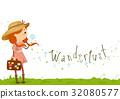 Stickman Kid Girl Wanderlust 32080577