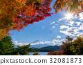 후지산 단풍 시즌 32081873