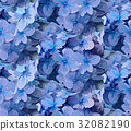 Hydrangea flower Seamless pattern Vector  32082190