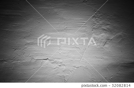 Gray concrete wall with rough plastering 32082814