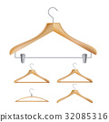 Wooden Clothes Hangers Vector. Illustration Of 32085316