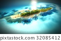 Small tropical island in Maldives atoll from 32085412