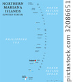 Northern Mariana Islands political map 32086651