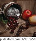 刺猬 水果 苹果 32086659
