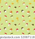 mushroom, vector, pattern 32087118