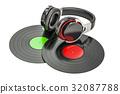 3d, headphones, record 32087788