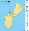 Guam political map 32088168