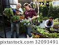 People Planting Harvest Garden Green 32093491