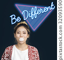 Be Different Thinking Conceptual Inspire Word 32093590
