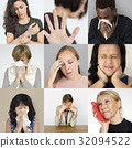 Collection of sickness people in pain 32094522