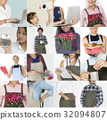 Collage of small business startup people set collection 32094807