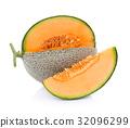 melon isolated on white background 32096299