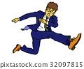 company employee, office worker, salaryman 32097815