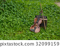 Violin with accordion Put on the lawn Wait for the 32099159