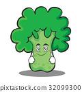 Smile broccoli chracter cartoon style 32099300
