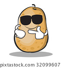 Super cool potato character cartoon style 32099607