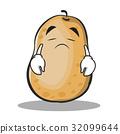 Sad potato character cartoon style 32099644