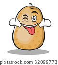 Tongue out with wink potato character cartoon 32099773