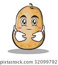 Hugging potato character cartoon style 32099792