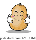 Cute smile potato character cartoon style 32103368