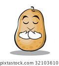 potato cartoon face 32103610