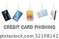 real fishing hook phishing credit card vector 32108142