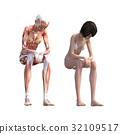 กล้ามเนื้อ,ร่างกาย,สรีระ 32109517