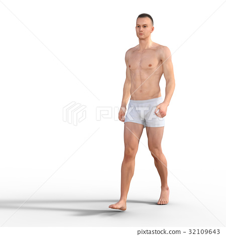 Mastered male perming3DCG illustration material 32109643