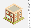 Flat 3d Isometric House - Vector Illustration 32110017