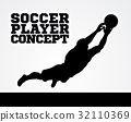 Goal Keeper Soccer Player Concept 32110369
