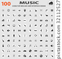 music icon set 32112527
