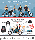 Biker Club Banners Set 32112788