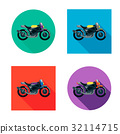 Vector motorcycles set in flat style. Vector 32114715